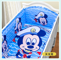 Promotion! 5PCS Cartoon baby cradle baby bedding crib sheets baby bumper (4bumpers+sheet)