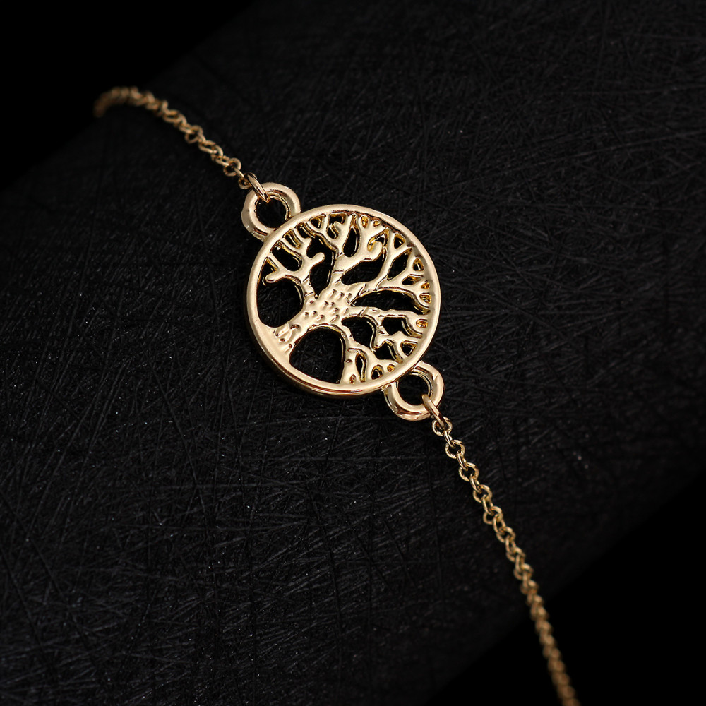 1pc Gold Silver Plated Tree Of Life Endless Love Simple