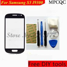 MPCQC Tools+ New For Samsung S3 I9300 Front Outer Screen Glass Replacement Front Touch Screen For Samsung S3 Cover Lens Black