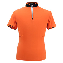 012310 Golf Clothing Men's Summer Polo Shirts Breathable Elastic Golf Short Sleeve Tshirt Male Uniforms Quick Dry Orange M-XXL