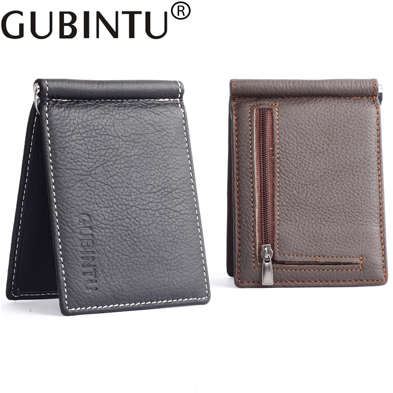 GUBINTU Men Wallet Card <font><b>Clip</b></font> Ultrathin Luxury Designer Money <font><b>Clips</b></font> <font><b>Genuine</b></font> Leather Slim Purse Clutches Wallet For Male Cateira
