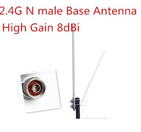 OSHINVOY 2.4G N antenne en fibre de verre mâle 8dBi antenne brouilleur en fibre de verre antenne wifi station omni antenne fouet 2.400-2500 MHz
