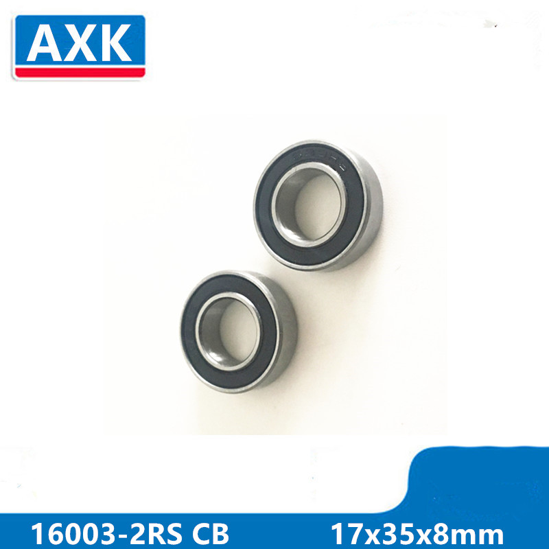 Axk 16003-2rs 16003 Hybrid Ceramic Deep Groove Ball Bearing 17x35x8mm 16003-2rs Cb Abec-3 free shipping 699 2rs cb 699 hybrid ceramic deep groove ball bearing 9x20x6mm