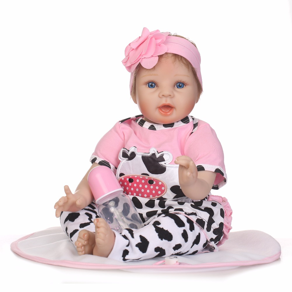 55cm Silicone Reborn Girl Baby Doll Toy Lifelike 22inch Newborn Princess Toddler Babies Doll Kids Birthday Gifts Play House Toy