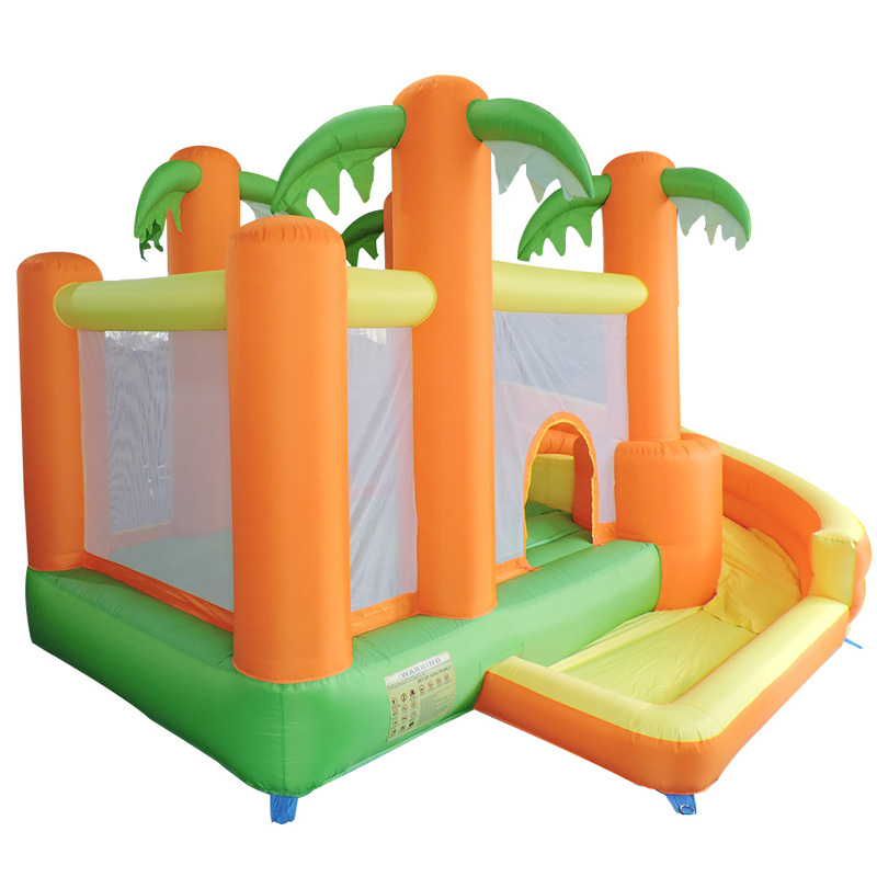 YARD Oxford Children Jungle Inflatable Trampoline Bounce House Jumping Bouncer Moonwalk Bouncy Castle for Kids yard residential inflatable bounce house combo slide bouncy with ball pool for kids amusement