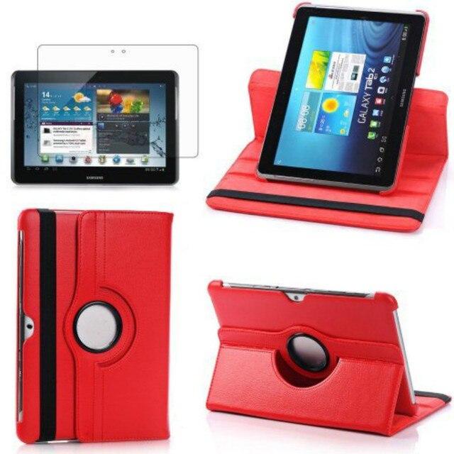 Funda de soporte giratoria para Samsung Tab 2 10,1 GT P5100 P5110 P5113 tableta 360 grados Pu Funda de cuero Flip Folio imán despierto dormir