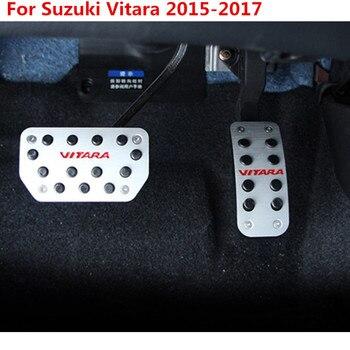 Paduan Aluminium Pedal Rem Pedale Cover untuk Suzuki Vitara Aksesoris 2015 2016 2017