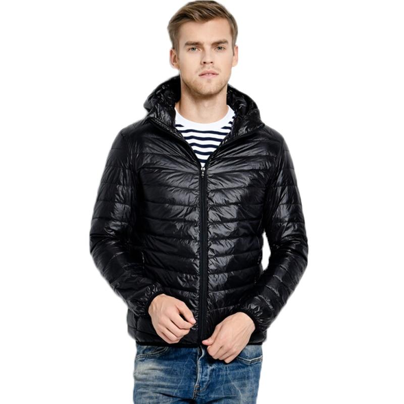 New fashion White Duck Down Jacket Men Autumn Winter Mens Causal Hooded Ultralight Down Jackets & Coats jaqueta masculino Parka