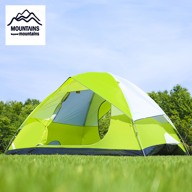 Oversized Space Tent 2 People Family Outdoor Camping Tent Waterproof Portable Hiking Trip 3 Season Beach