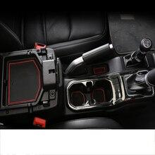 lsrtw2017 latex car door slot mat cup slot mat for jeep wrangler JL 2018 2019 2020 цена