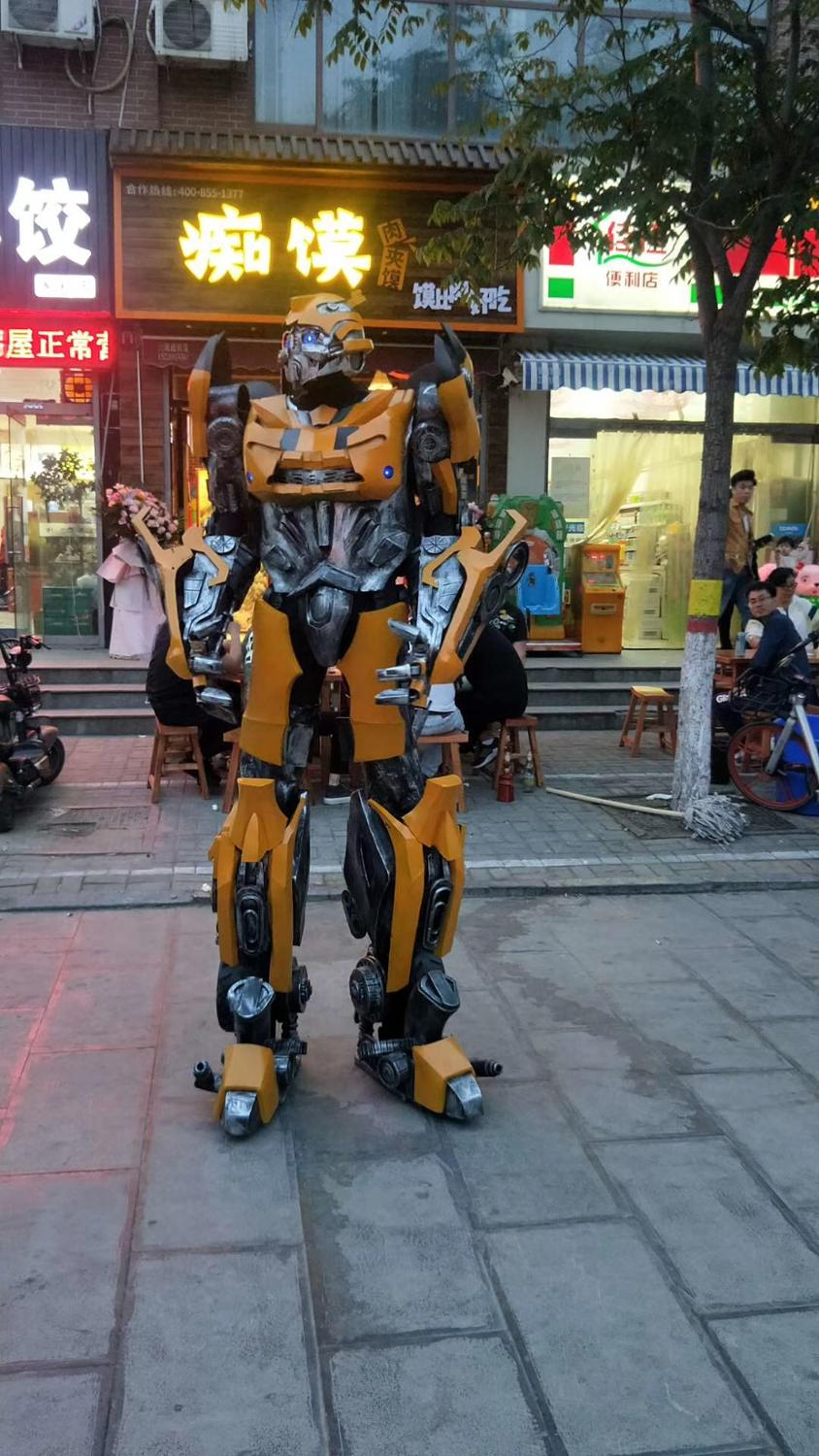 Transformateurs vêtements Bumblebee Cosplay costumes Optimus Prime Robot Costume grande Performance armure portable