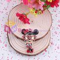 Free Shipping 10pcs/lot Rhinestone Pendant Glass Girl Pendant Like Mouse Pendant