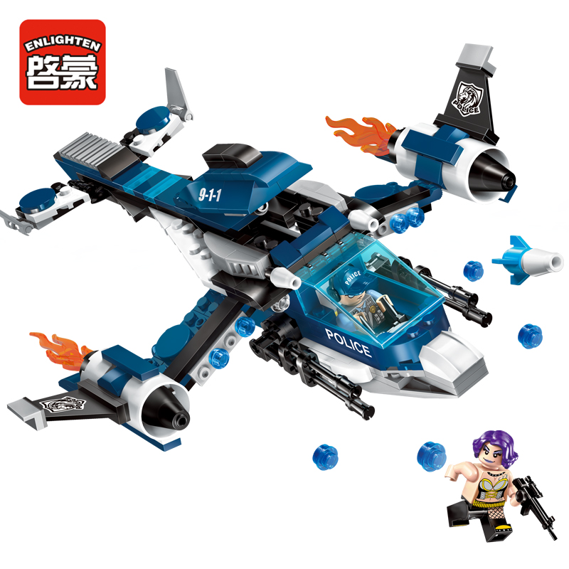 275pcs Enlighten building blocks City police Series Secret arrest plane Compatible all brand brick Educational blocks toys gifts city series police car motorcycle building blocks policeman models toys for children boy gifts compatible with legoeinglys 26014
