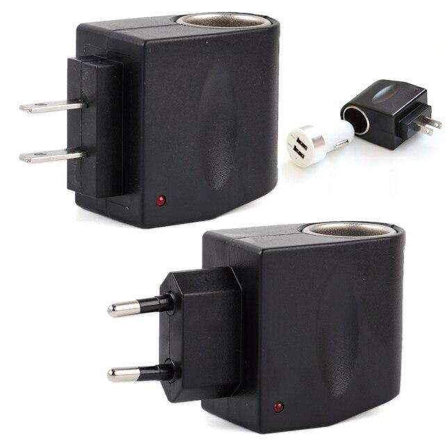 Dwcx Universal Car Charger Cigarette Lighter Converter Adapter Ac 110v 220v Wall To Dc 12v Fit For Vw Audi Honda Hyundai