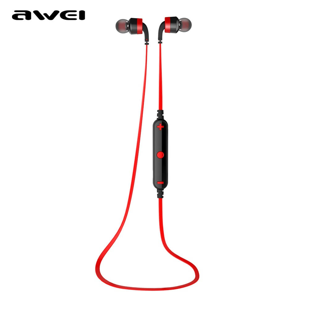 New Awei A960BL Bluetooth Wireless Sports Running Earphone with Mic Handsfree Headphones Stereo Headset Noise Isolation Earbuds