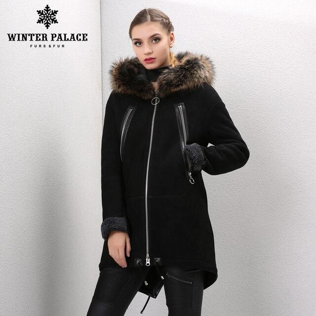 b85a75fa0e9 Young women fur coat Fashion Slim Fur women winter jacket winter coat women  sheepskin coat Brown fur coat WINTER PALACE