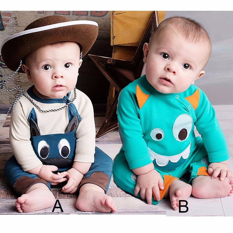 fashion baby romper funny little monster toddler baby romper long sleeve warm baby girl cotton clothes Infant girl winter romper doomagic bee style cotton baby romper black yellow