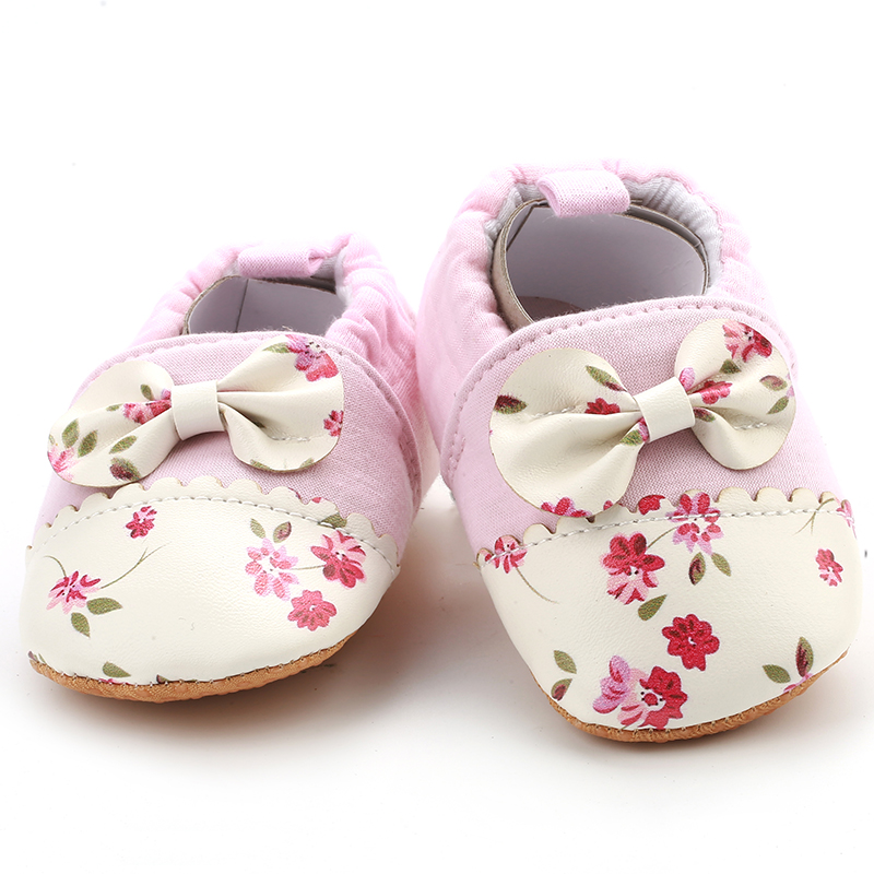 [simfamily]Infant Crib Shoes Anti Slip Soft Sole Baby Toddler Shoe First Walkers 0-18 Months Simfamily Shoes