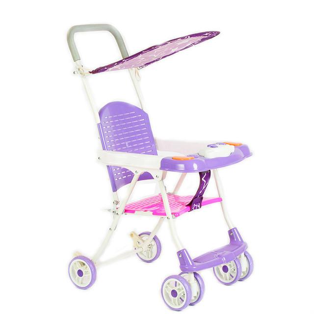 Inverno verão dual-purpose rattan carro carrinho de bebê ultra portátil fácil dobrável carrinho de quatro rodas carrinho com toldo