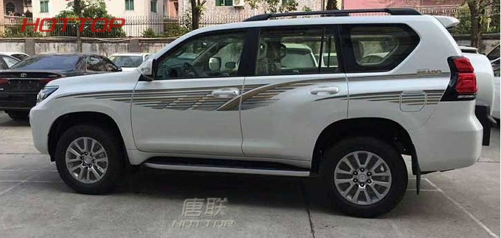 For Toyota Prado 2018 Vinyl Graphic Body Sticker Side Decal Stripe DIY Decals Kit Car Styling Accessories