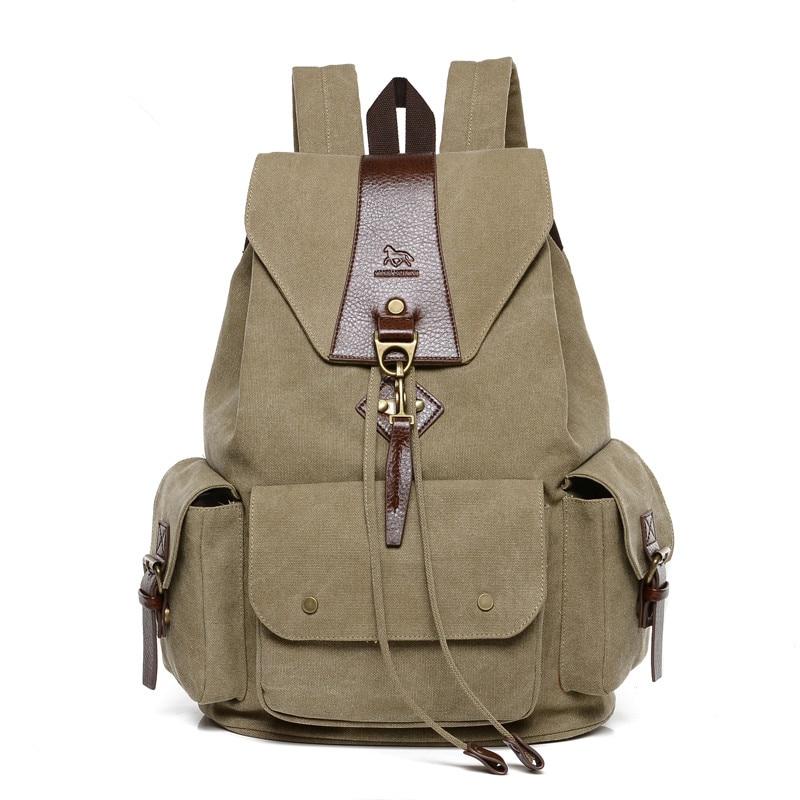 купить 2017 New Fashion Casual Canvas Men and women Backpack Bag High Quality Mochila drawstring school bag bagpack rucksack Unisex онлайн