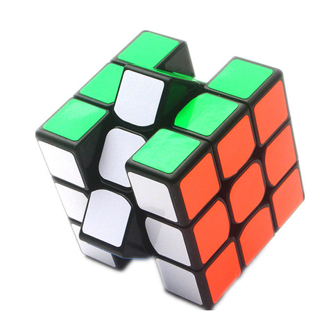 guanlong 3x3x3 cubo 3x3 cubos magicos profissional 5 6 cm preto branco etiqueta velocidade quebra