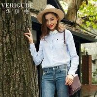 Veri Gude Women Summer Blouse Striped Shirt Slim Fit Causal Tops