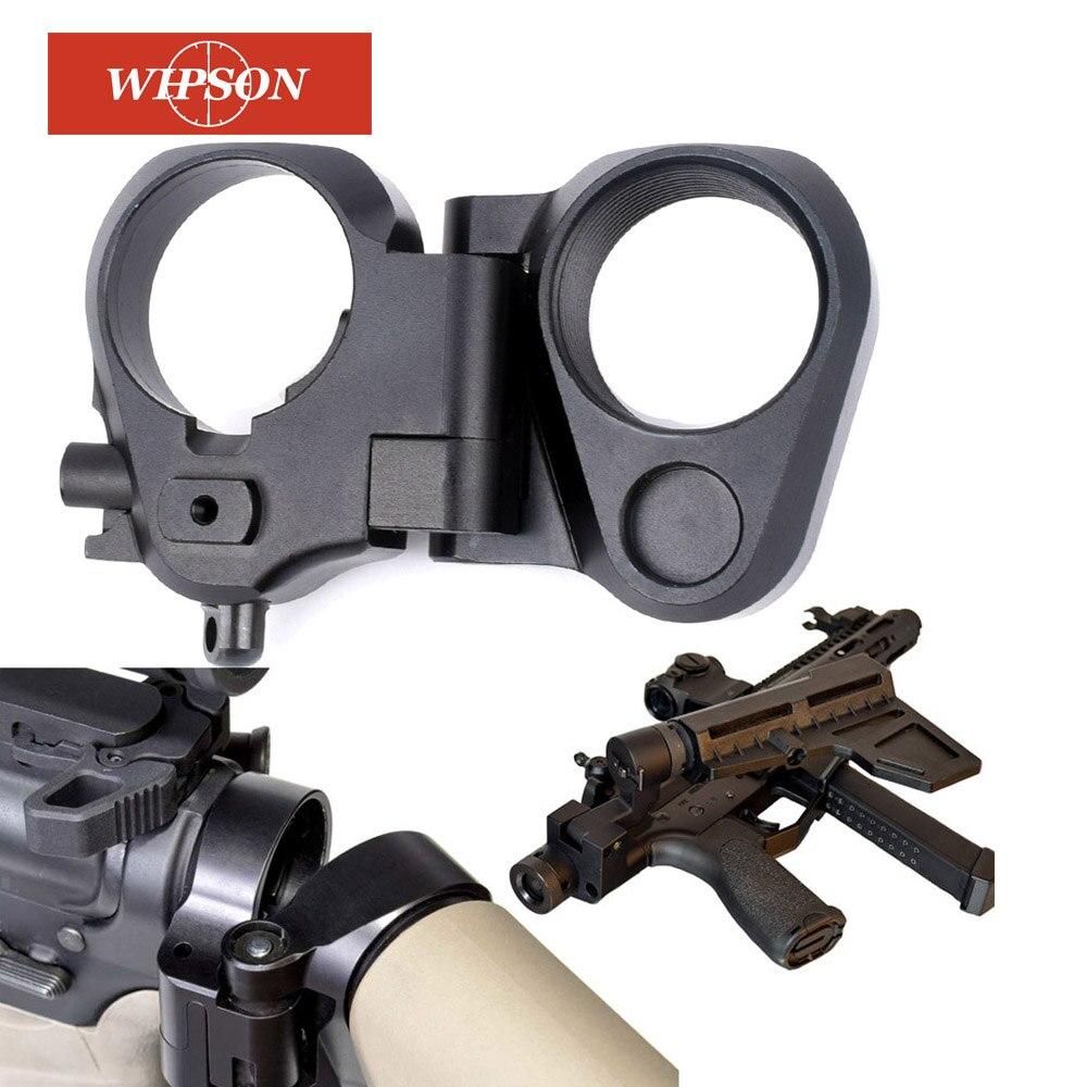 WIPSON Caça AccessoriesTactical AR Dobrar Adaptador Estoque Para M16/M4 SR25 Series GBB (AEG) Para Airsoft