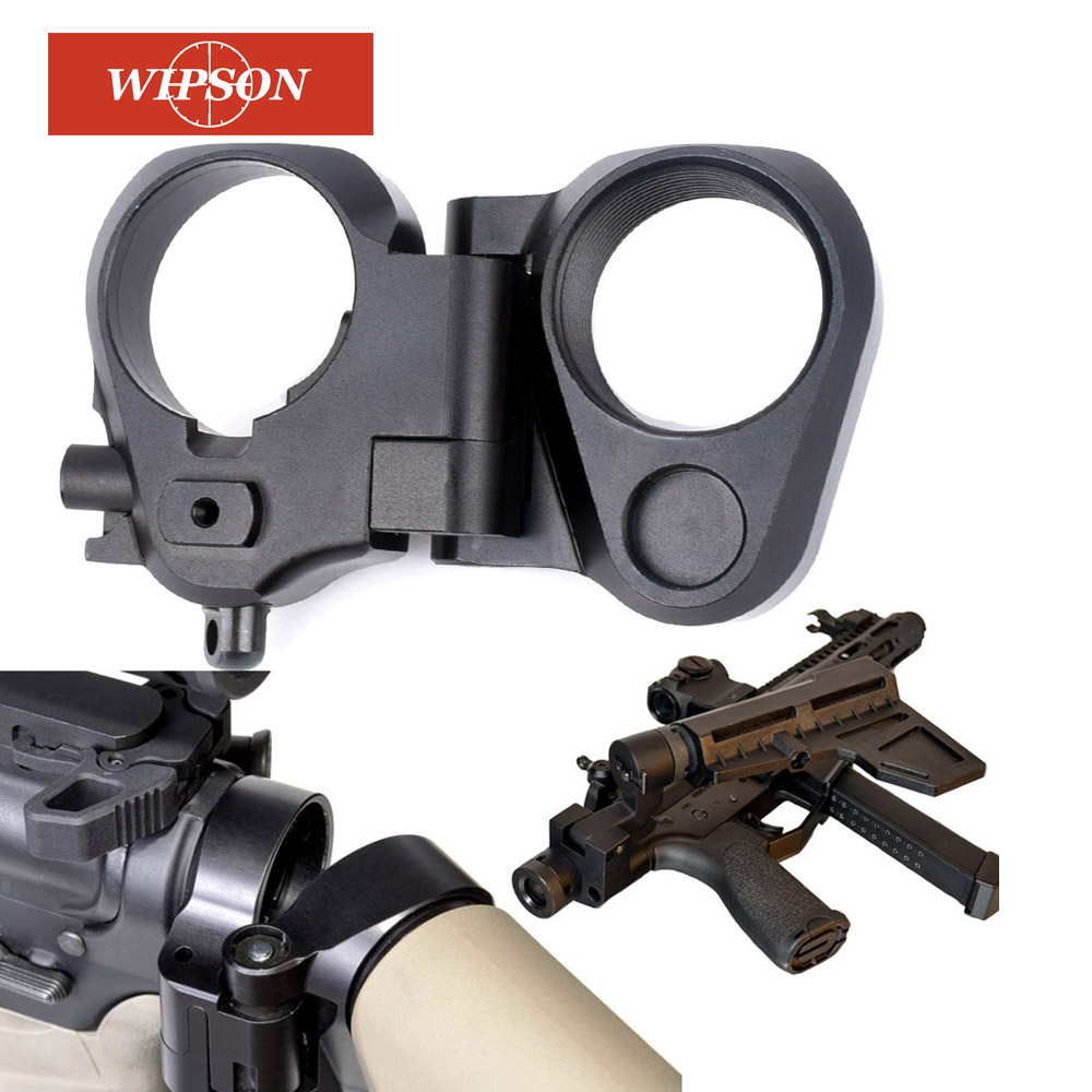 Wipson caça accessoriestactical ar dobrável estoque adaptador para m16/m4 sr25 series gbb (aeg) para airsoft