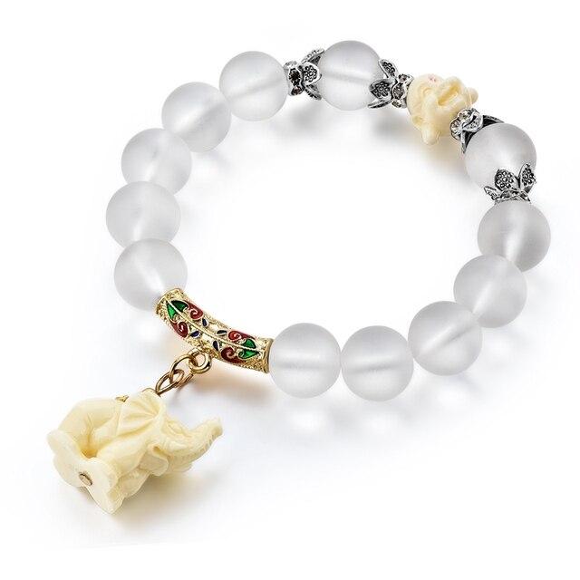 Opale naturale borda i braccialetti di cristallo di modo del braccialetto delle