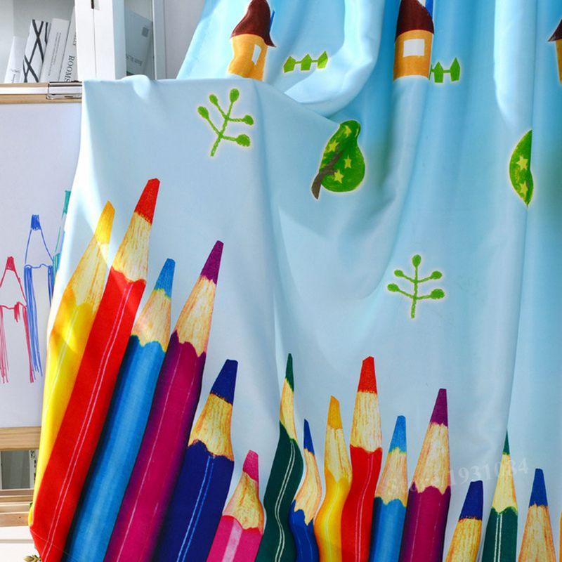 unids rainbow lpiz beb cortinas opacas para nios prr quarto sala de cortina cortina dormitorio