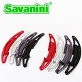 Savaini Nova Marca 2 pcs de Alta Qualidade De Alumínio Mudança Volante Paddle Extensão Shifter cut-out forma Para BMW M3M4M5M6