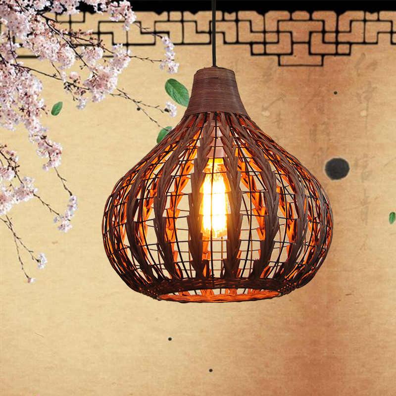 Wicker Pendant Lamp Kitchen Dining Room