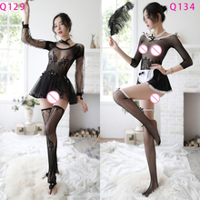 Newest Maid Sexy Uniform Sex Costumes Role Play Women Lingerie Hot Underwear Lovely Female Lace Erotic Costume