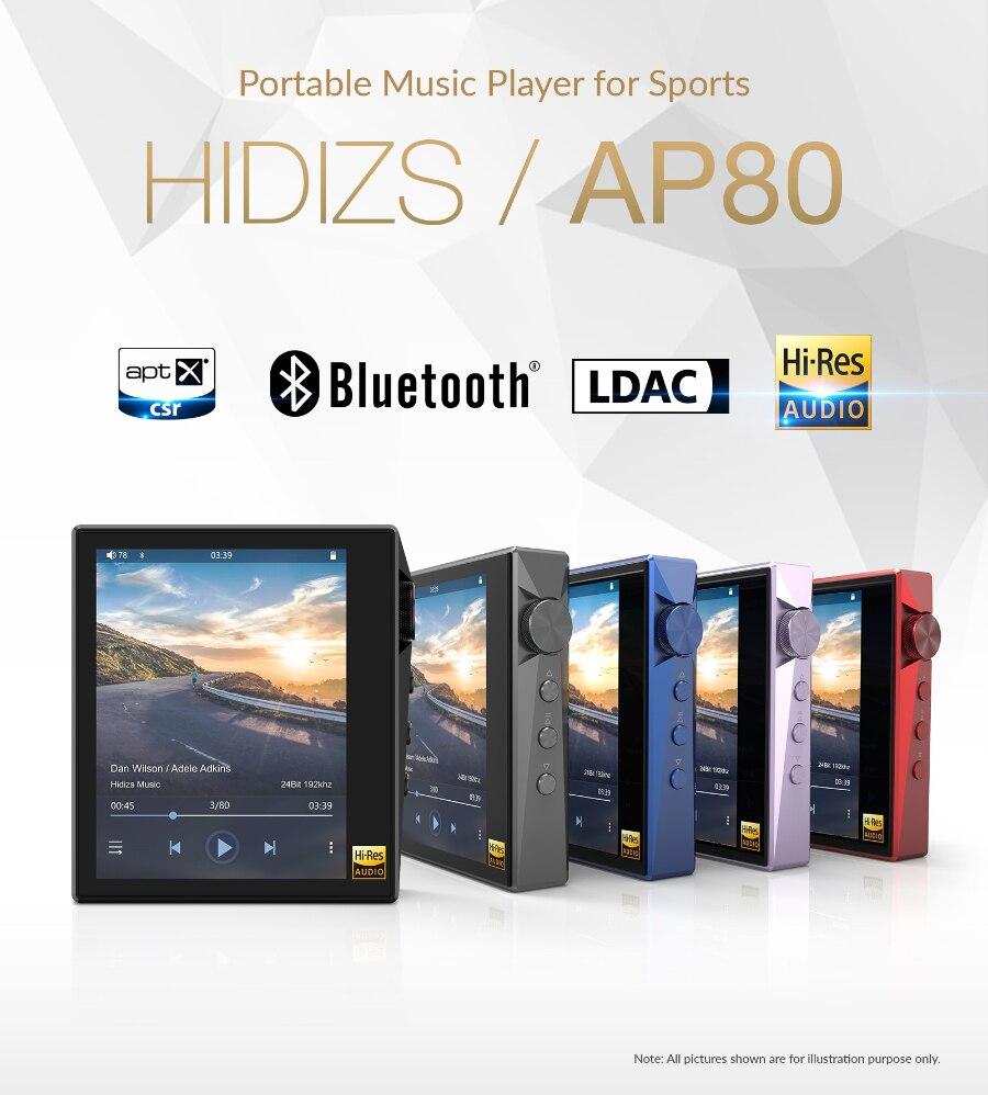 Hidizs ap80 hi res es9218p bluetooth música