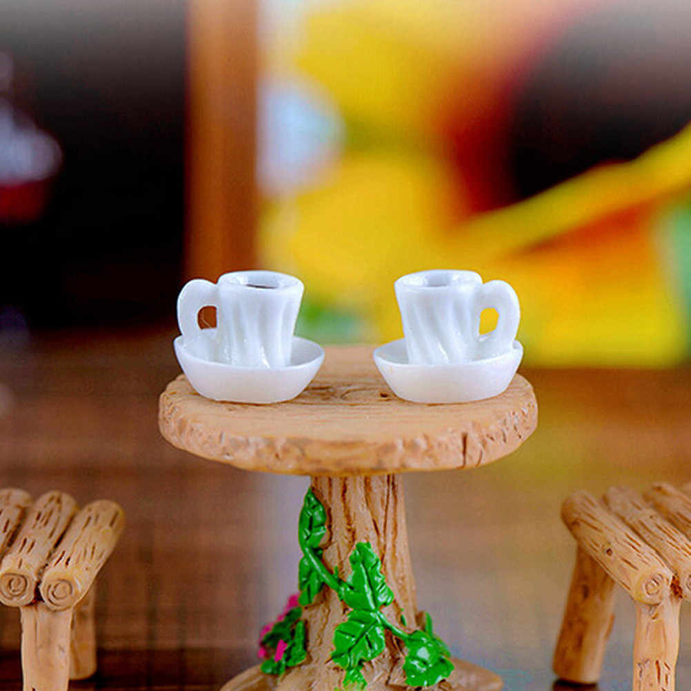 Mini Kawaii A Cup Of Tea Model Miniature Figurine Home Garden Decoration Accessories Decor Craft Plastic Figure