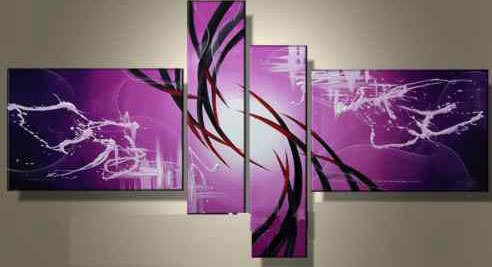 hand painted oil wall art Purple clouds Home Decoration Modern ...