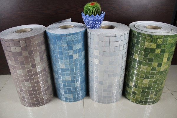 Modern aluminum foil mosaic tile for bathroom kitchen waterproof
