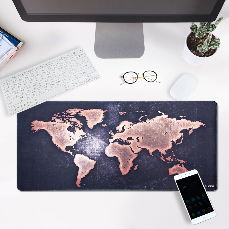 JIALONG Large Gaming Mouse Pad XXL Non-slip Rubber Base Mouse Pad Waterproof for Computer PC and Keyboard Laptop World Map beautiful design non slip rubber gaming oblong mouse pad
