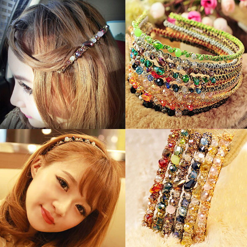 1 Pc Hot Women Girls Korean Fashion Crystal Rhinestone Barrette Hairpin Clip and Hair Bands 2015 New все цены