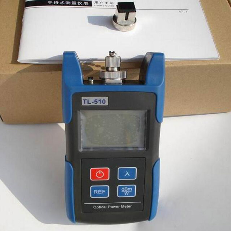 Handheld TL-510 Mini Optical Fiber Power Meter With SC FC Interface  Laser Power Meter Fiber Optic Tester