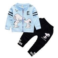 31861fc97 BibiCola niños ropa conjunto otoño niños chándal ropa moda dibujos animados  perro top abrigo + Pantalones trajes bebe traje depo.