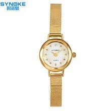 Nouveau Femmes Élégantes montres SYNOKE Célèbre marque femmes bracelet montre de mode De Luxe Dames mince bracelet à quartz montres relogio