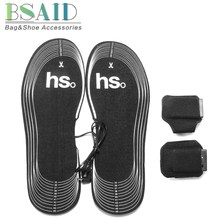 BSAID Winter Heated Insoles Women Men Electric Battery Heating Warm About 50 Degree Shoe Inserts, Can Cut Carbon Fiber Foot Pads