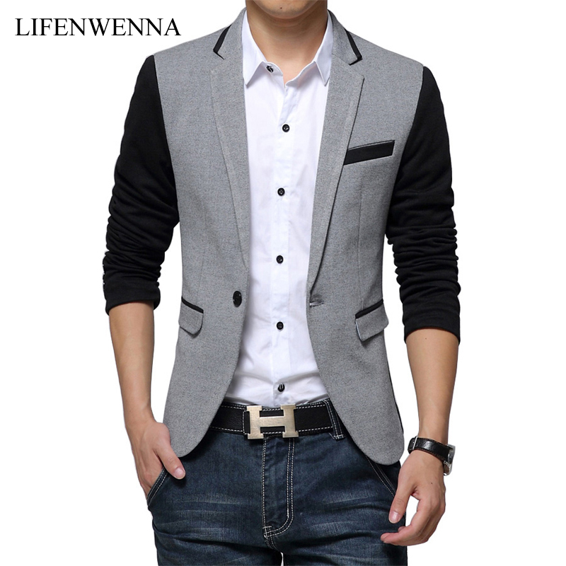 li fen wen na Slim Fit Casual Blazer Suit Jacket Coat Men