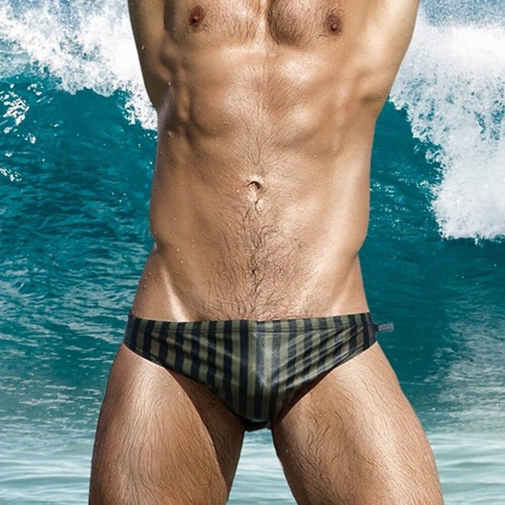 Fashion Men Breathable Trunks Pants Beach Stripe Running Swimming Underwear Nylon Briefs Beachwear Swimwear Swimsuit P4