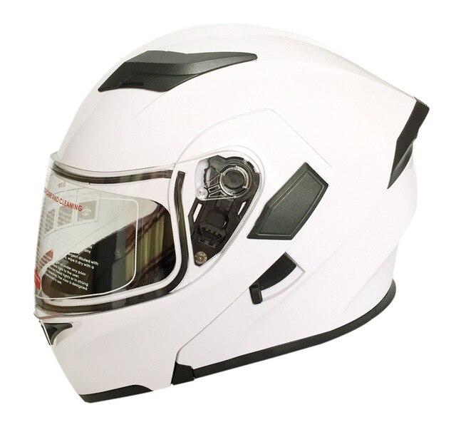 Cyclegear ABS флип мотоциклетный шлем с двойным щитком Casco Capacetes мото головные уборы CG902 - Цвет: one