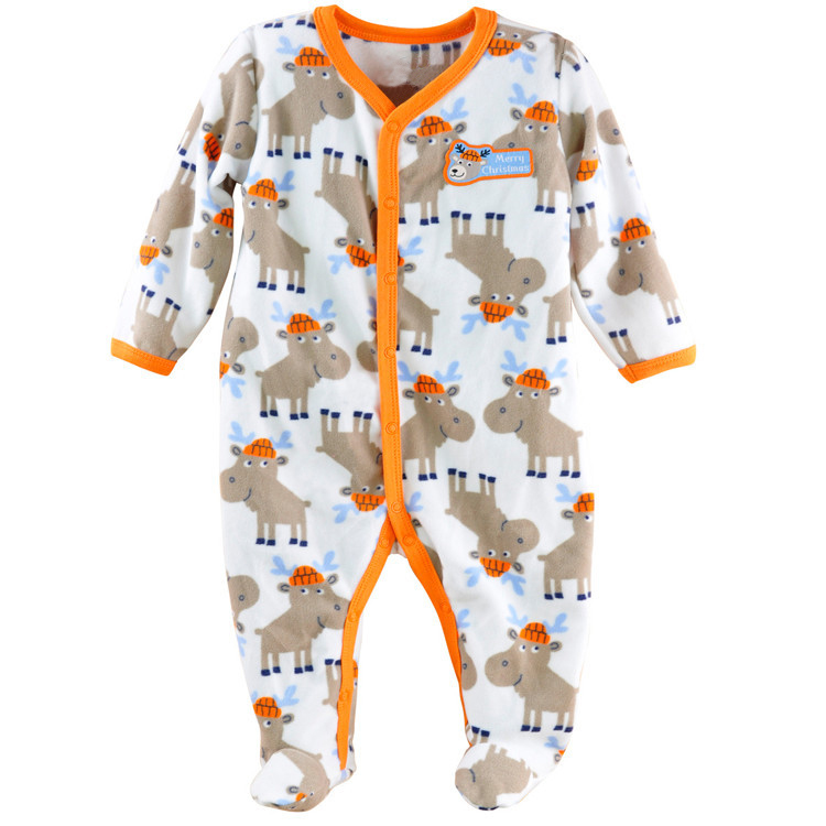 2017 Spring Autumn Newborn Baby Boy Clothes Polar Fleece Baby Rompers Infantil Menino Jumpsuit Boys Body Baby Clothes New Born
