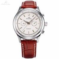 Ks腕時計男性高級ブランド日付日表示レロジオmasculinoレザーバンド手首自動自己風男性機械式時計/KS183