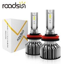 Roadsun LED H4 H7 Bóng Đèn Pha H1 H11 HB2 H8 9005 HB3 HB4 9006 Đèn LED 12V 24V 8000LM 6000K Automotivo Xi Nhan Độ Xe Máy Đèn